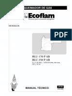 Queimador BLU 170-250 PAB, Ecoflam
