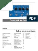 Tc Electronic Flashback x4 Delay Looper Manual French