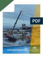 Fort St. John - 2021 Capital Projects List