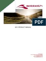 SABBATH 2011  PRODUCT MANUAL