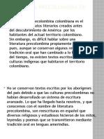 Literatura Precolombina en Colombia