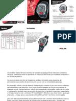 Monitor de freqüência cardíaca S520 manual do usario