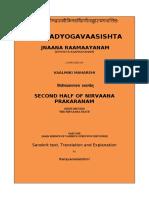 VI Nirvaana Prakaranam (Second Half)