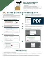 Infografia Proceso Preinscripcion