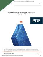 Abi Baden-Württemberg Probeabitur Wahlteil A2 _ Aufgaben, Lösungen und Tipps