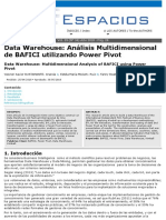 BAFICI utilizando Power Pivot - Data warehouse