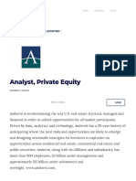 Analyst, Private Equity — Amherst _ Built In Austin