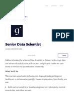 Senior Data Scientist - Galileo _ Built In NYC