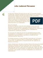 El Derecho Laboral Peruano