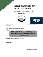 TRATAMIENTO DE LAS ESCORIAS Y ESTUDIO TERNARIO EN LA FUNDICION DE Ag y Au