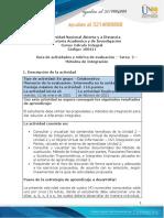Guia de actividades y rúbrica de evaluación - Tarea 2 - Métodos de Integración