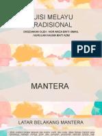 PUISI MELAYU TRADISIONAL - NAZAM & MANTERA