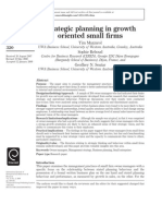 Strategic Planning in Growth Oriented Small Firms