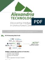 Alexandria Technology - ACTA Presentation - ESG