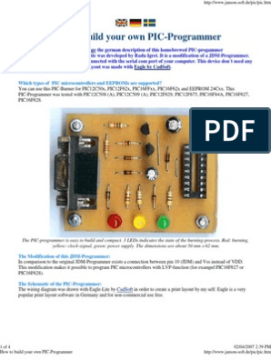 How to build your own PIC-Programmer | Microcontroller