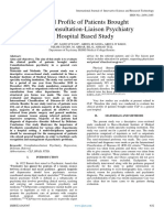 Clinical Profile of Patients Brought Under Consultation-Liaison Psychiatry a Hospital Based Study