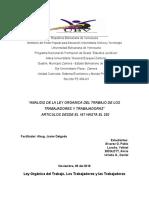 PROFE JAVIER LOTTT ANALISIS ART 167 252