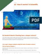 Sanskrit Mantras- How it works?