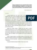 A FORÇA NORMATIVA DA CONSTITUIÇÃO COMO GARANTIDORA DA SEGURANÇA JURÍDICA