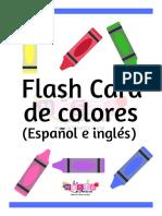 V1Flash Card de Colores Globos La Maeta de Preesco