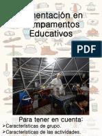 Alimentacion en Campamentos Educativos