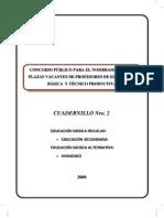 Examen Nombramiento Docente 2008 - Perú