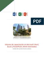 Informe de capacitación en Microsoft Word