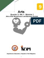Arts9_Q2_Mod1_RenaissanceBaroque_Version2
