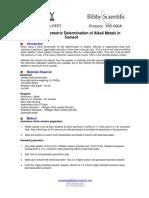 Determination of Alkali Metals in Cement