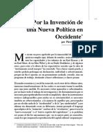 Pierre Bourdieu - Por la invención de una nueva política en Occidente