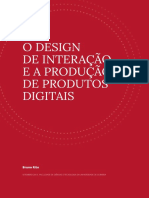O design de interacao e a producao de produtos digitais