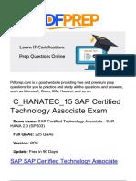 C_HANATEC_15 SAP Certification PDF Prep Questions