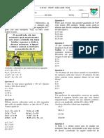 Avaliaçao Equaçoes Do Segundo Grau