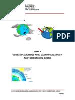 HOMBRE AMBIENTE Y RECURSOS TEMA X (CONTAMINACION DEL AIRE, CAMBIO CLIMATICO Y AGOTAMIENTO DE OZONO)