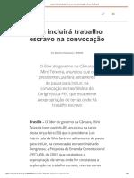 2004_02_10_Lula incluirá trabalho escravo na convocação _ Repórter Brasil