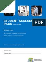 BSBMGT402 S2 Student Assessment Pack v2.00