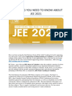 EVERYTHING YOU NEED TO KNOW ABOUT JEE 2021