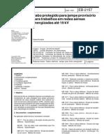 NBR EB 02157 - Cabo protegido para jampe provisório para trabalhos em redes aéreas energizadas até 15 kV