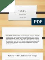TOEFL WRITING PART