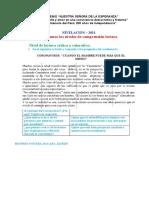 riofrio yoveraACTIVIDAD N° 01 - NIVELES DE COMPRENSIÓN