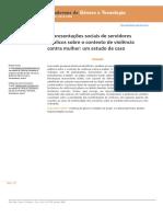 Representações sociais de servidores públicos sobre o contexto de violência contra mulher- um estudo de caso