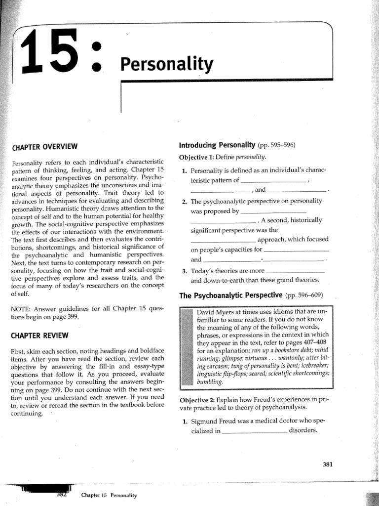 MeyersStudyGuideCh15 | Id | Humanistic Psychology