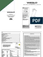 Manual do Usuário - Esteira Weslo Speed 4.0