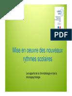 Apports de La Chronobiologie Et de La Chronopsychologie 2