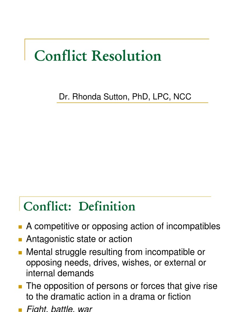 conflict-resolution | conflict (process) | conflict resolution
