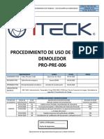 PRO-PRE-006 Uso de Martillo Demoledor Rev.04