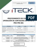PRO-PRE-001 Uso y Operacion de Cortadora de Asfalto Rev.04
