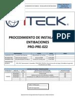 PRO-PRE-022 Instalación de Entibaciones