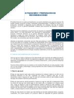 ANÁLISIS FINANCIERO Y PREPARACIÓN DE RECOMENDACIONES