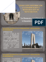 2- EVOLUCION HISTORICA DE LA RESTAURACION Y CONSERVACION INTEIOR DE MONUMENTOS